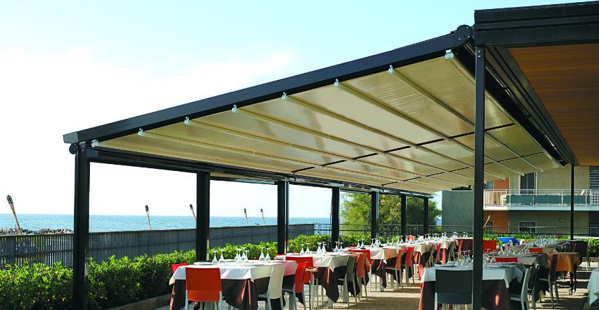 Tenda per grandi coperture (ristoranti giardini)